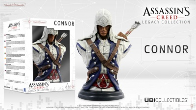 ASSASSIN'S CREED 3 BUSTO LEGACY DI CONNOR ORIGINALE UBISOFT ACTION FIGURE